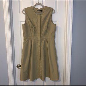 Realativity A Line  button front Dress tan size 16